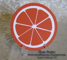 Orange Slice punch art