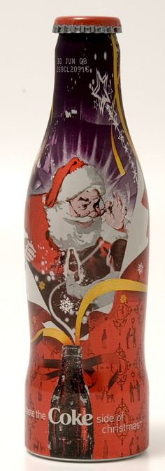 COCA-COLA SUNDBLOM SANTA CLAUS Coke Soda CAN CHRISTMAS Atlanta GEORGIA 1996 1//1+