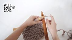 Herringbone knit stitch (step by step video and written instructions)