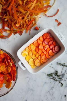 Roasted Citrus Thyme Ombré Carrots /