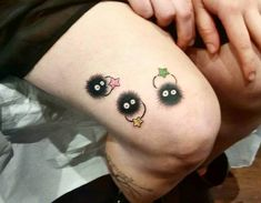 Soot sprites from Spirited Away/Totoro by Sam Roldos at Red Baron Ink, Lower East Side, NYC