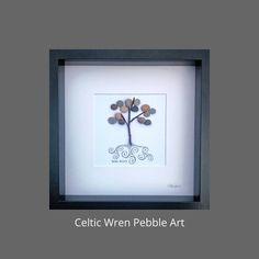 Irish Roots, Irish Art, Wren, Box Frames, Pebble Art, Celtic, My Etsy Shop, Colours, Shapes