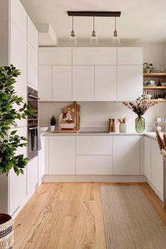 Kitchen Room Design, Home Room Design, Kitchen Cabinet Design, Home Decor Kitchen, Interior Design Kitchen, New Kitchen, Home Kitchens, Kitchen Drawers, Minimal Kitchen Design