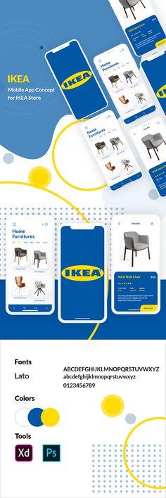 IKEA Mobile App Concept on Behance Ikea Mobile, Mobile App, Adobe Xd, Adobe Photoshop, Ikea App, Branding, App Ui Design, Behance, Concept