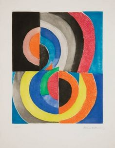 Abstract Composition with Semicircles - Sonia Delaunay