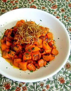Tangerine Glazed Carrots with Fried Ginger