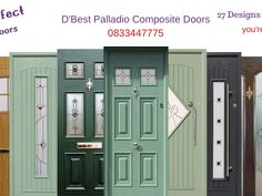 The BELFAST Palladio Composite Front Door.  The Single Belfast door with Bog Oak Frame and Bog Oak Door. The BELFAST door has 4 square glass panes down the middle of the door with a choice of glass designs and colours. This door has a lever lever handle in bright chrome and no letterbox. the door has a low threshold in silver. this modern door is suitable for all homes but contemporary settings uit this door best. for more information give us a call or visit our website. 00353 83 344 7775