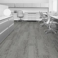 Interface carpet tile: HN820 Color: Slate 7627-003-000 Installation method: Ashlar                Room scene: Open Office