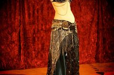 Bespoke Antique Materials Professional Caliber Tribal Fusion Belly Dance Belt
