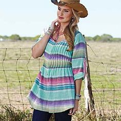 Pecos Serape Tunic,   Running W saddle shop