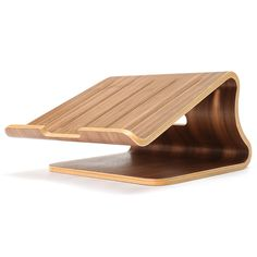 Wooden Laptop Cooling Holder Stand Radiator Dock Tray For Notebook Tablet