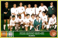 Valencia team group in Real Madrid, Valencia, Santiago Bernabeu, Football, 1960s, Poster, Group, Collection, World
