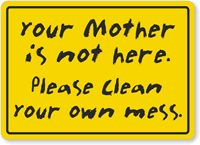 leave it cleaner sign - Google Search