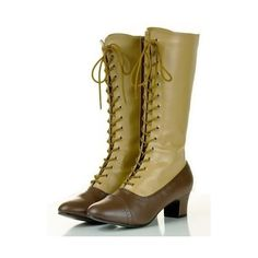STEAMPUNK VICTORIAN VINTAGE COSPLAY BROWN LACE UP BOOTS - Los Angeles... ❤ liked on Polyvore featuring shoes, boots, ankle booties, steampunk, victorian, brown lace up booties, brown boots, victorian boots, brown booties and brown lace up ankle booties