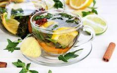 te jengibre, canela y limón para des hinchar la barriga y bajar de peso