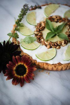 Thai Lime Tart {gluten & Dairy Free} — Probably This #thai #tart #pie #lime #peanutbutter #peanut #basil #dessert #food