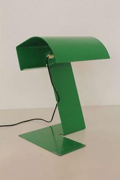 "by Trabucco, Vecchi and Volpi for Italian Stilnovo ""Blitz"" metal table lamp, 1970"