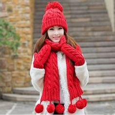 Christmas gifts womens hat scarf and glove set for winter fleece design  Mens Bucket Hats d7678f09dfc