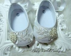 Blanco satén Baby Girl zapatos novia zapatos de bautizo
