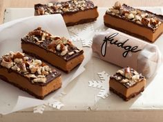 Triple-Decker Peanut Butter and Pretzel Fudge - One quick batch requires only stove-top and chill time, and yields 8 to 10 dainty but decadent boxes of pure delight.