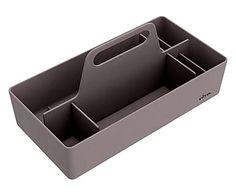 Portaoggetti in materiale plastico Toolbox grigio - 33x17x17 cm
