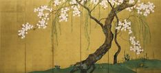 Ogata Korin, Japan's master painter and the force behind the Rimpa movement, died 45 years before Hoitsu was born.