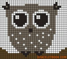Owl perler bead pattern - turn it into granny square blanket!