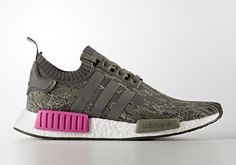 The adidas NMD Utility Grey Camo (Style Code: BZ0222) will release Summer 2017 featuring an updated camo Primeknit with magenta accents. More: