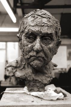 Suzie Zamit is a portrait sculptor who works mainly in clay. Recent sculpture commissions include Charles Bradlaugh MP for the Palace of Westminster Sculpture Head, Human Sculpture, Pottery Sculpture, Lion Sculpture, Ceramic Figures, Ceramic Art, 3d Studio, A Level Art, Clay Art