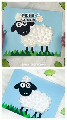 Make this Pom Pom Sheep Crafts easier for kids, Crafts . Bee Crafts For Kids, Easter Crafts For Kids, Toddler Crafts, Preschool Crafts, Easy Crafts, Art For Kids, Preschool Kindergarten, Craft Kids, Art Children