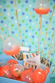 Camping/fishing theme for birthday party