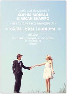 Signature White Wedding Invitations Floating Fairytale - Front : Black