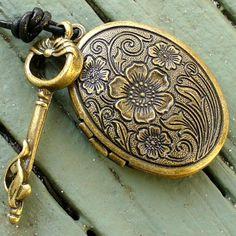 always loved lockets and skeleton keys
