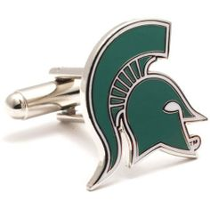 NCAA Michigan State Spartans Cufflinks by Cufflinks. $59.95. The official logo of the Michigan State University Spartans. Enamel finish cufflinks on a nickel plated backing. Click Here for Other NCAA Cufflinks Officially licensed NCAA cufflinks.