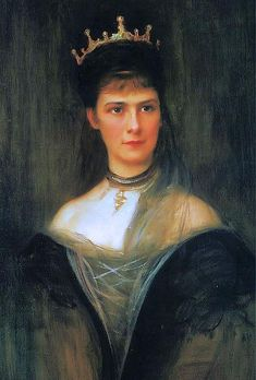 Philip Alexius De László - Retrato de Emperatriz Elisabeth de Austria - 1898