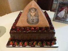 Egyption Pyramid grooms cake - Village Bakery - Tyler TX