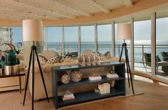Awesome Modern Floor Lamp Design: Tall Modern Floor Lamp Rustic Beach House Interior