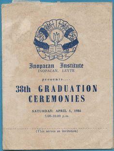 INOPACAN INSTITUTE: 1986 Graduating Class of Inopacan Institute