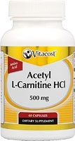Vitacost Acetyl LCarnitine HCl  500 mg  60 Capsules * You can get more details by clicking on the image.  This link participates in Amazon Service LLC Associates Program, a program designed to let participant earn advertising fees by advertising and linking to Amazon.com.