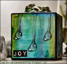 Creativity: Joy .. although this is a wooden block, I can see this as an ATB; Nov 2014