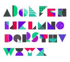 Geometric Font by Aoyce C., via Behance