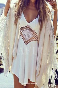 Solid Color Spaghetti Strap Openwork Romper WHITE: Jumpsuits & Rompers | ZAFUL