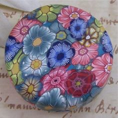 Polymer Clay Covered Tin Pill Box by CAG by polymerclayshed, $9.99