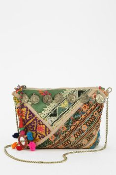 Love Sam Coins Embroidered Crossbody Bag #urbanoutfitters