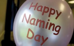 Happy naming day! Does not need to be religious
