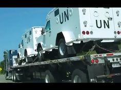 Because America is Defeated From Within................ WHY ARE U.N. TRUCKS, TANKS AND MRAPS'S SEEN ALL OVER THE U.S.A.? (VIDEO) |