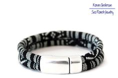Unisex Woven Cotton Bracelet  Men's Man by SeaRanchJewelry on Etsy
