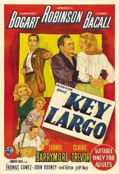 Key Largo - Humphrey Bogart - Edward G Robinson - Lauren Bacall