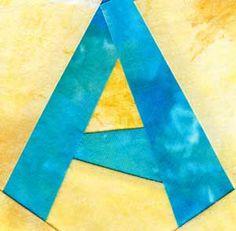 Free Alphabet Quilt Block (foundation pieced) patterns - Dori Hawks @ thequiltercommunity.com