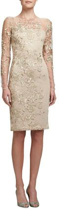 David Meister Embroidered Lace Cocktail Dress on shopstyle.com